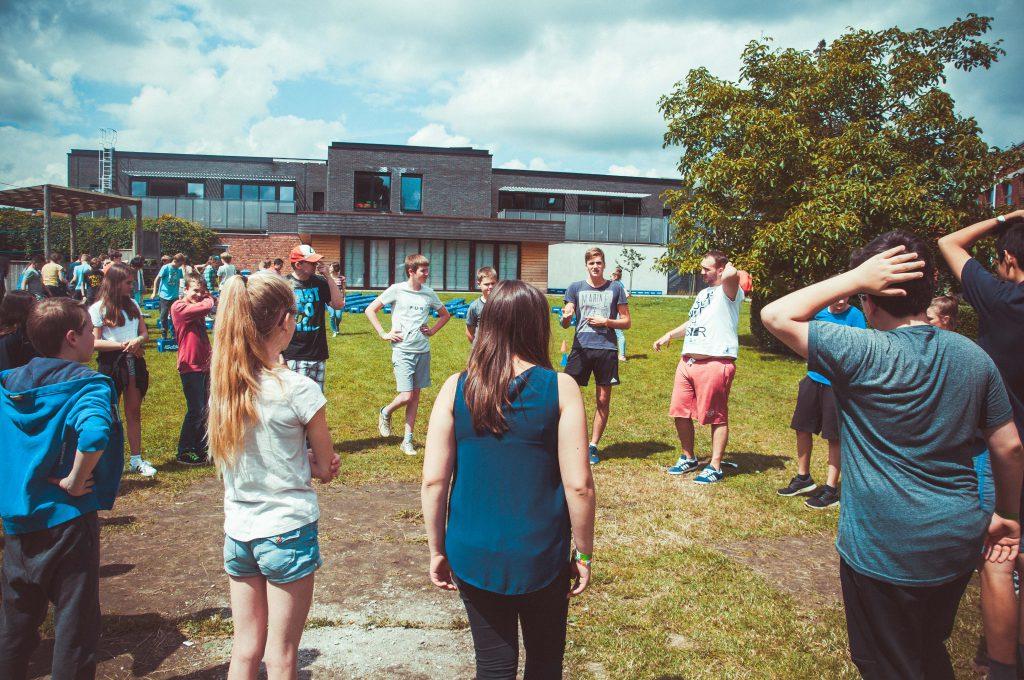 Tieners leeftijdsgroep speelplein Groene Zone Leuven